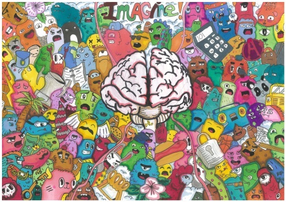 The winning artwork for grades 5 to 6, competition organized by ARC Centre of Excellence for Integrative Brain Function in Australia