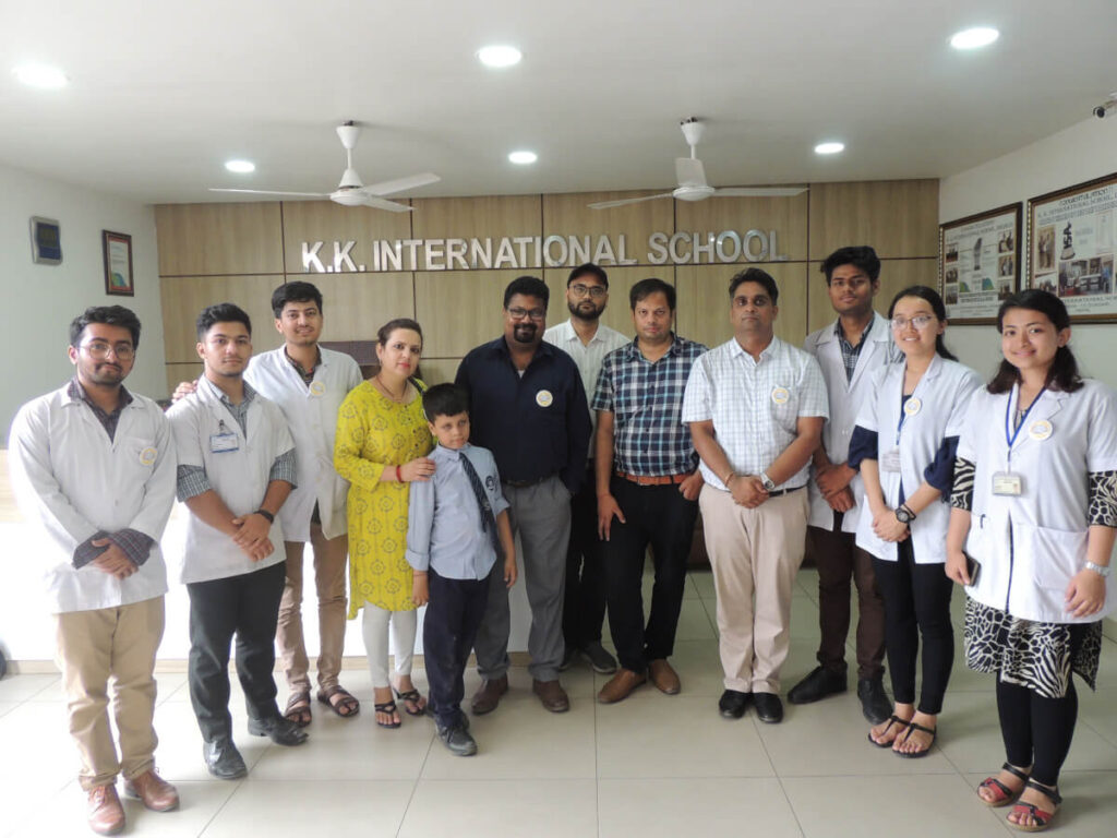 A group of participants at an event organized by BP KOIRALA INSITUTE OF HEALTH SCIENCES in Nepal.