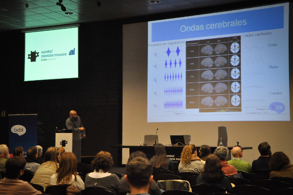 A cognitive neuroscience presentation at Basque Center on Cognition, Brain and Language (BCBL) during BAW in Spain
