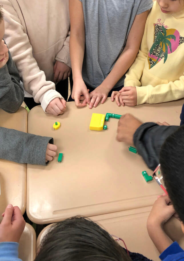 Students learn about Neural Circuit Construction at Cedar Hill Elementary School during an event organized by The Brain Bunch in New Jersey.