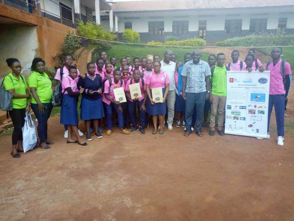 Participants at an event organized by Cameroon Association Neuroscience (CAMANE) and College Notre Dame in Cameroon.