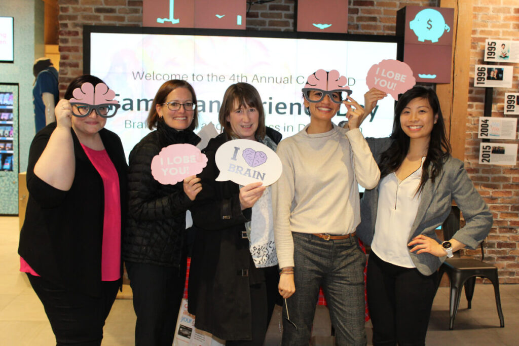 Expressing love for the brain at an event organized by the Canadian Biomarker Integration Network in Depression in Toronto.