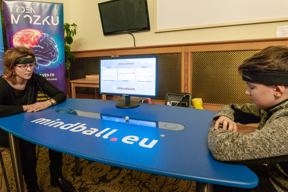 A Brain Games Room at an event organized by the Centre for Administration and Operations of the Czech Academy of Sciences in the Czech Republic.2