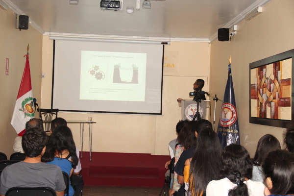 Presentation for Brain Awareness Week organized by the College of Biologists of Peru