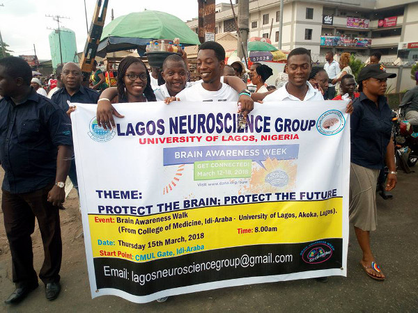 A road walk for the brain organized by the College of Medicine, University of Lagos, in Nigeria