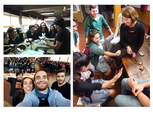 BAW at a high school in Curuzu Cuatia organized by the Electrophysiology Lab and Neurophysiology Lab, Multidisciplinary Institute of Cell Biology in Argentina