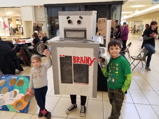 Brainy the Robot has been making the rounds during events organized by the Edinboro University of Pennsylvania since 2010