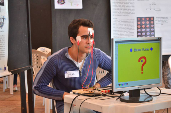 Brain experiments at Brain Awareness Week event hosted by Federal University of Minas Gerais in Brazil