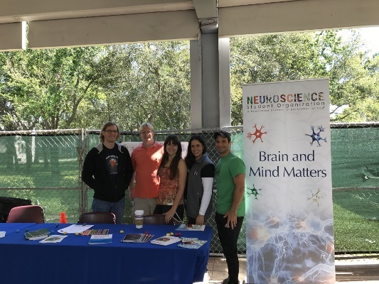 An brain information table organized by Florida Atlantic University Neuroscience Student Organization in Florida