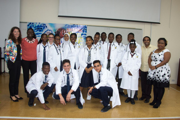 Participants in The Christian Services Grenada National Brain Bee Challenge organized by the Grenada Brain Bee Challenge in St. George's, Grenada