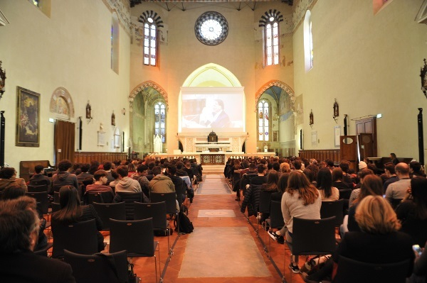 The audience during a BAW event organized by the IMT School for Advanced Studies Lucca in Italy