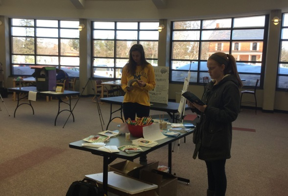 Free materials at an event organized by Lake Superior State University in Michigan