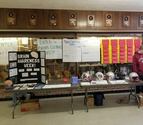 A display at an event organized by Madison LaFollette High School in Wisconsin