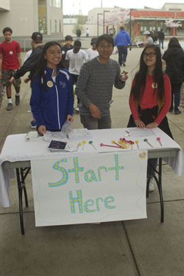 Key Club Greeters at BAW at Mill Creek Middle School in WA, USA