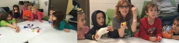 Children learn about the brain and dinosaurs during an event organized by Oklahoma State University Center for Health and Sciences