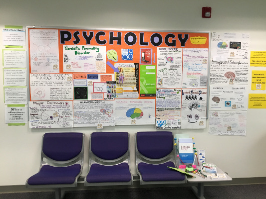 A psychology display organized by Palo Verde College in Blithe, California
