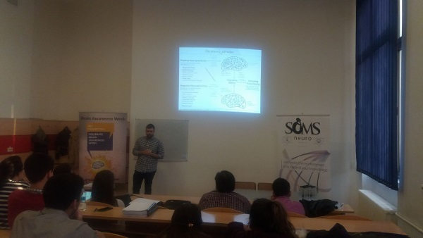Student presentation competition on brain imaging organized by SOMS in Bucharest, Romania