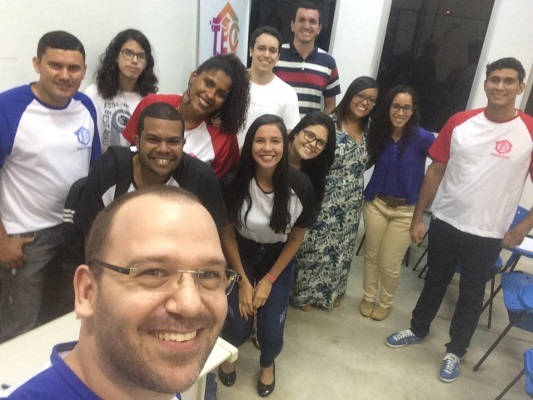 Participants at an event organized by TEC Research Group in Brazil