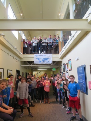 Students after a presentation organized by The Peak School in Colorado