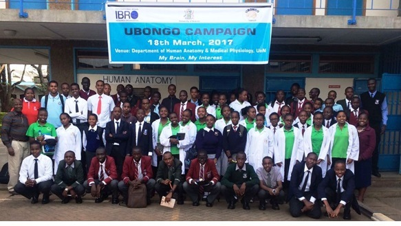 Kenya Brain Bee 2017 participants, organized by Ubongo Brain Awareness Campaign - Kenya 2017 in Africa