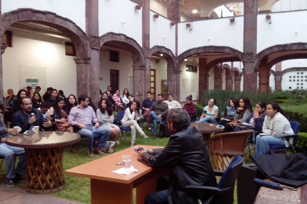 Conference in a Public Place, Gardens of Neuroscience Institute of Universidad de Guadalajara in Mexico