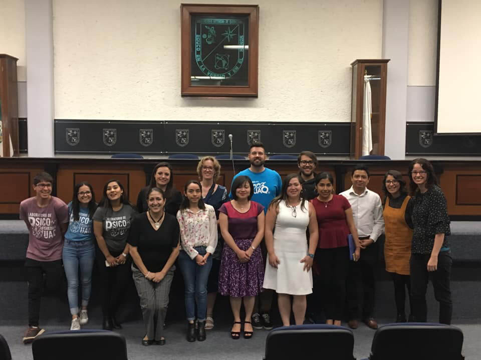 Speakers and staff at an event organized by Universidad Autónoma de Querétaro in Mexico.