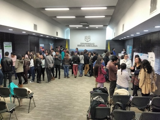 Students in brain-related fields at a meeting promoting collaboration and discourse, organized by Universidad Sergio Arboleda in Colombia