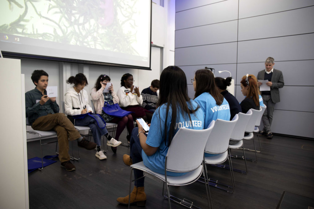 British Brain Bee 2019 finalists compete for first, second and third place in Cambridge, United Kingdom.