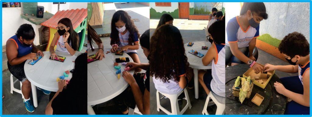 Brain games at an event organized by Centro Educacional Futura in Colombia.