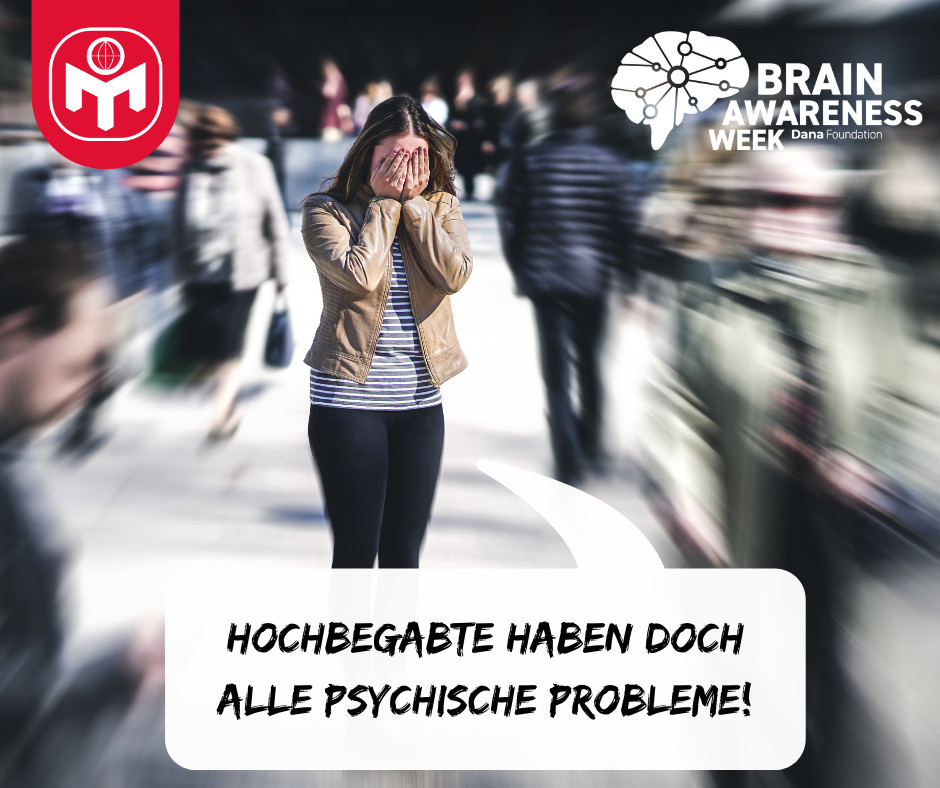 Social media image on mental health created and shared by Mensa in Deutschland e. V. / MinD-Stiftung gGmbH in Germany.