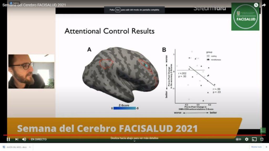 """An online lecture entitled """"Meditation and it´s neuroplastic effects on the healthy and pathological brain"""" organized by the Facultad de Ciencias de la Salud, Universidad Autónoma de Baja California in Tijuana, Mexico."""