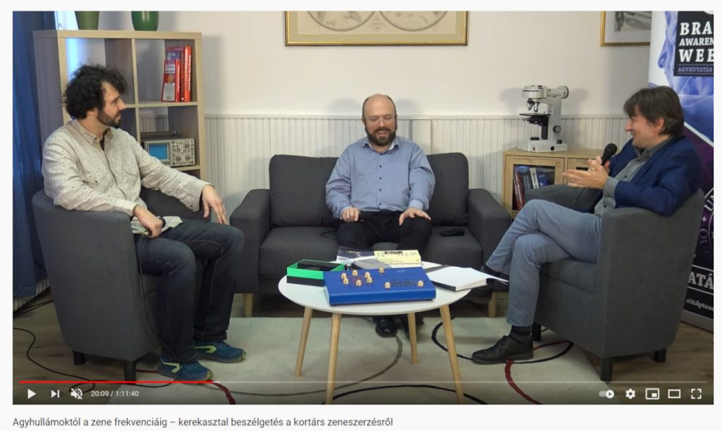 Round table talk on the topic: from brain waves to music frequency with a neuroscientist, conductor and  composer organized by the Institute of Transdisciplinary Discoveries, Medical School, University of Pécs in Hungary.
